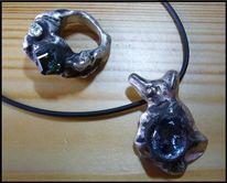 Silber, Design, Guss, Ring