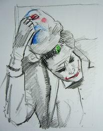 Skizze, Maske, Zeichnung, Lächeln