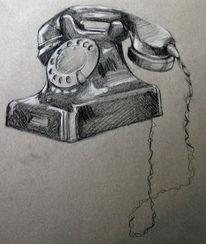 Zeichnung, Telefon, Zeichnungen