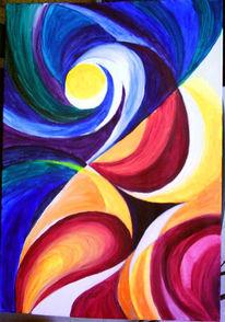 Tag, Malerei, Licht, Nacht