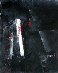 Schwarz, Komposition, Abstrakt, Malerei