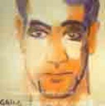 Portrait, Mann, Aquarellmalerei, Malerei