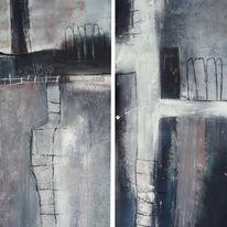 Malerei, Abstrakt, Ankunft