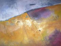 Malerei, Abstrakt, Wilder, Lavendel