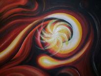 Funke, Licht, Feuer, Malerei