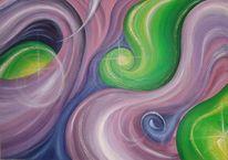 Gefühl, Geburt, Malerei, Abstrakt