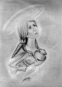 Portrait, Gral, Zeichnung, Zeichnungen