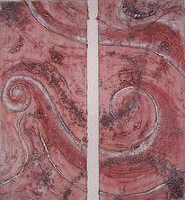 Abstrakt, Stuktur, Acrylmalerei, Malerei