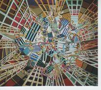 Malerei, Animation, Abstrakt, Netzwerk