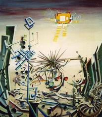 Surreal, Abstrakt, Expressionismus, Malerei