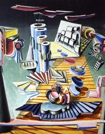 Acrylmalerei, Surreal, Abstrakt, Expressionismus