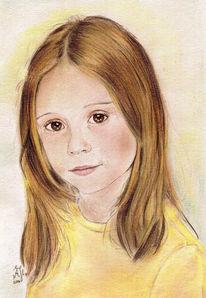Zeichnung, Portrait, Zeichnungen, Kind