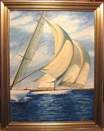 Klassisch, Yacht, Segelyachten, Malerei