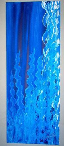 Meer, Seaplants, Abstrakt, Blau