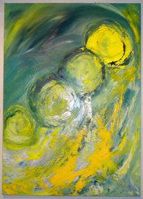 Gelb, Wetter, Malerei, Grün