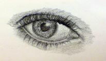 Zeichnung, Augen, Zeichnungen, Portrait