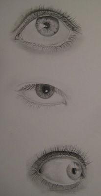 Bleistiftzeichnung, Zeichnung, Augen, Zeichnungen