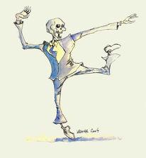 Tanz, Zeichnung, Tod, Freude