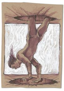 Zeichnung, Dimension, Mann, Fallen