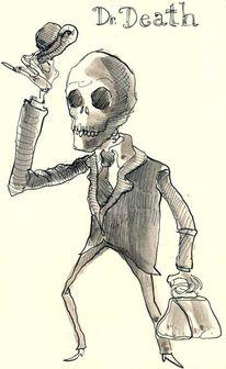 Tod, Tusche, Moleskine, Zeichnungen