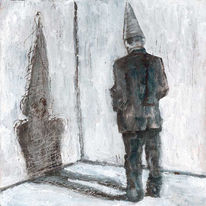Wand, Narr, Acrylmalerei, Schatten