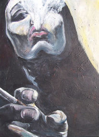 Rauch, Malerei, Schwarz, Frau