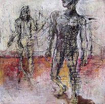 Malerei, Mann, Frau, Trennung