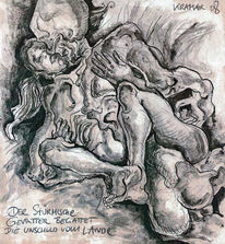 Tuschmalerei, Unschuld, Tod, Zeichnungen