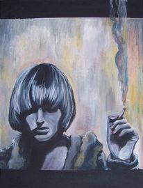 Rauch, Rauchen, Grau, Frau