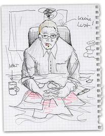 Skizze, Zeichnung, Zeichnungen, Warten