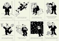 Schlaf, Mann, Reparieren, Postkarten