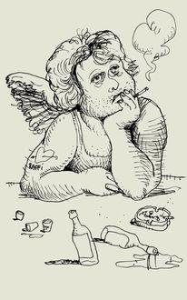 Engel, Zeichnungen,