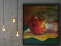 Apfel, Malerei, Abstraktes silleben