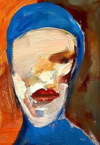 Acrylmalerei, Kopf, Malerei