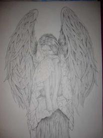 Engel, Zeichnung, Angel, Zeichnungen