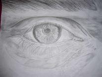 Augen, Zeichnung, Bleistiftzeichnung, Portrait