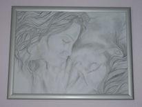 Liebe, Schlaf, Zeichnung, Portrait