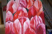 Blumen, Malerei, Rosa, Rot