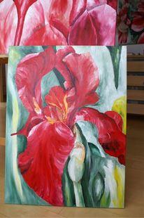 Grün, Blumen, Malerei, Rot