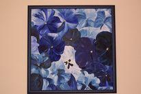 Malerei, Stiefmütterchen, Blumen, Blau
