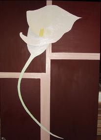 Blumen, Quadrat, Malerei, Pflanzen