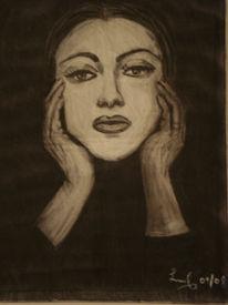 Erinnerung, Frau, Portrait, Schwarz weiß
