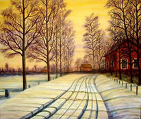 Landschaft, Winter, Baum, Winterlandschaft
