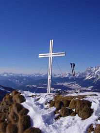 Gipfelkreuz, Winter, Himmel, Landschaft