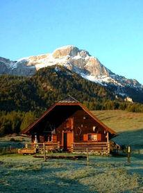 Fotografie, Berge, Almhütte, Alm