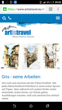 Artistravel, Malreisen, Dozent, Workshop