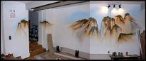 Wandgestaltung, Auftragsarbeit, China, Fotografie