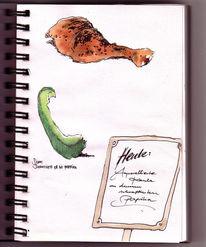 Paprika, Grillen, Zeichnungen,