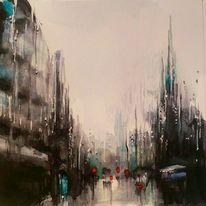 Aquarellmalerei, Regen, Aquarell