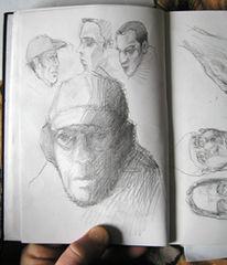 Heimlichzeichner, Zeichnung, Skizze, Sbahn